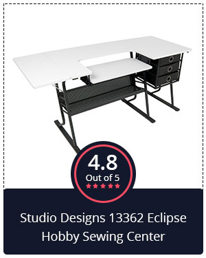 Best Sewing Table: Studio Designs 13362 Eclipse Hobby Sewing Center