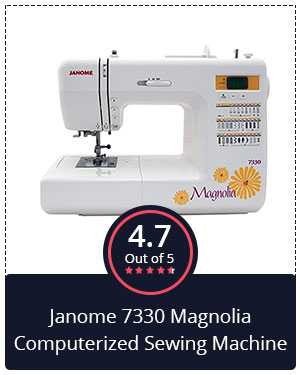 Best for Beginners – Janome 7330 Magnolia Computerized Sewing Machine