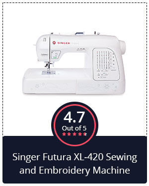 Best for Beginners – Singer Futura XL-420 Sewing and Embroidery Machine