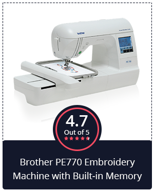 Best for Advanced Users: Brother PE770 Embroidery Machine with Built-in Memory