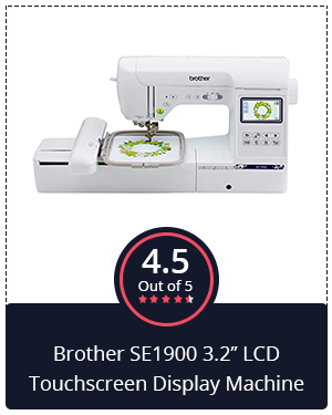 """The Dependable: Brother SE1900 3.2"""" LCD Touchscreen Display Machine"""