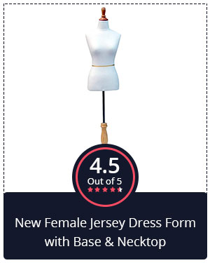 Best for Novice Fashion Designers – New Female Jersey Dress Form with Base & Necktop