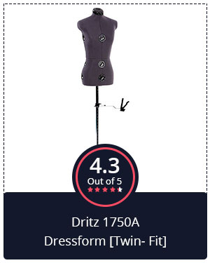 Best for DIY Projects – Dritz 1750A Dressform [Twin-Fit]