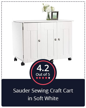 Best for Professionals: Sauder Sewing Craft Cart in Soft White