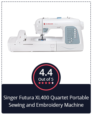 Large Embroidery Field: Singer Futura XL400 Quartet Portable Sewing and Embroidery Machine