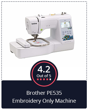 Another Value for Money Machine: Brother PE535 Embroidery Only Machine