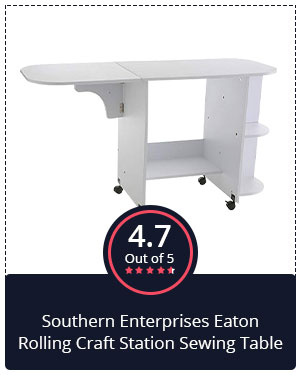 Best Value for Money: Southern Enterprises Eaton Rolling Craft Station Sewing Table