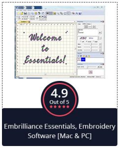 BEST OVERALL – EMBRILLIANCE ESSENTIALS, EMBROIDERY SOFTWARE [MAC & PC]