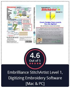 Best Embroidery Digitizing Software for Beginners – Embrilliance Stitch Artist Level 1, Digitizing Embroidery Software [Mac & PC]