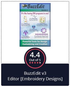 Best Versatile Embroidery Software – BuzzEdit v3 Editor [Embroidery Designs]