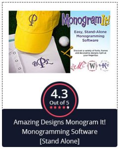 Best Monogramming Software for Beginners – Amazing Designs Monogram It! Monogramming Software [Stand Alone]